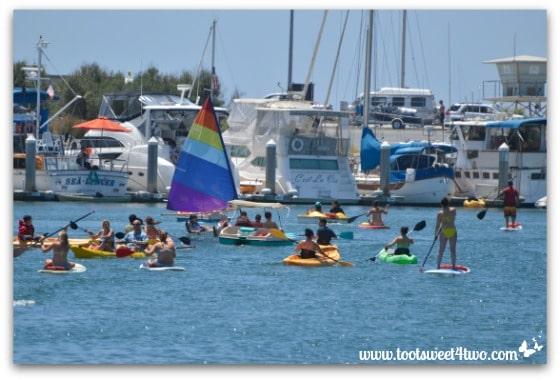 Boating congestion on Oceanside Harbor