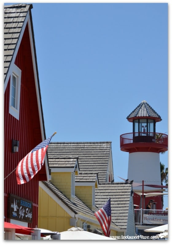 Colorful rooftops of Oceanside Harbor