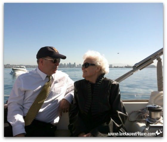 Love Leaves a Memory - Glenn and Mom on memorial sailboat