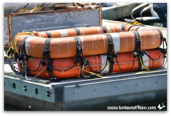 Orange dinghy - Oceanside Harbor
