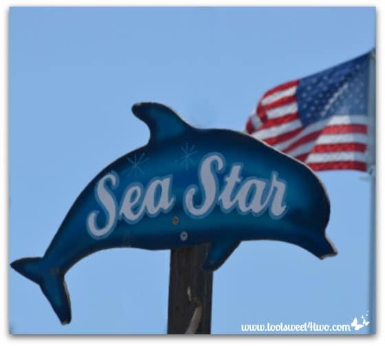 Sea Star sign - Oceanside Harbor