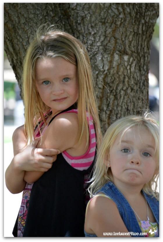 Strike a Pose - Princess P and Princess Sweetie Pie - Pic 2 - Old Poway Park