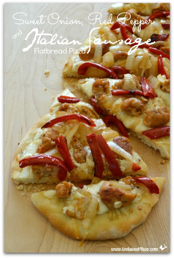 Sweet Onion, Red Pepper and Italian Sausage Flatbread Pizza - Pic 1