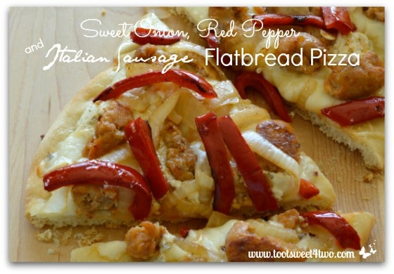 Sweet Onion, Red Pepper and Italian Sausage Flatbread Pizza - Pic 4