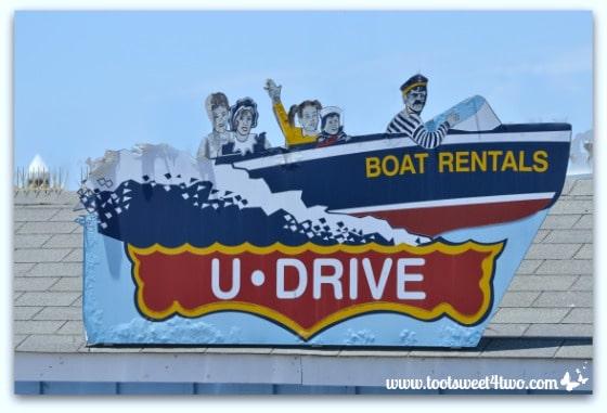U Drive Boat Rentals sign - Oceanside Harbor