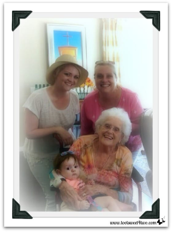 4 Generations of family - 42 Things in Your Baby's Nursery