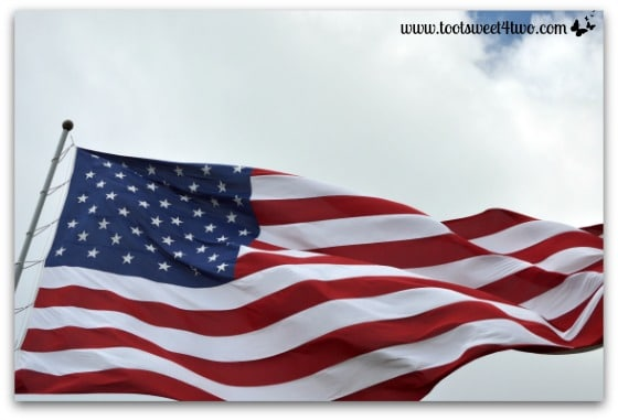 American flag Canalside Buffalo