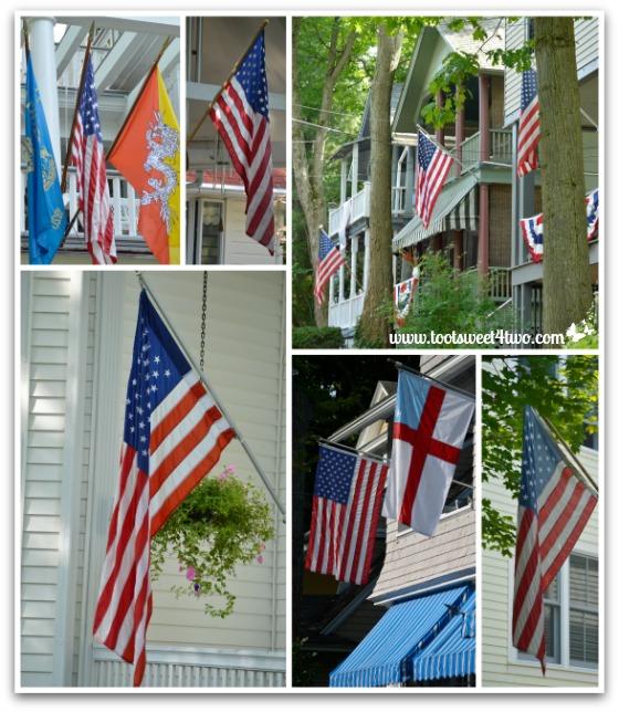American flags at Chautauqua Institution