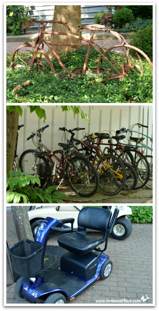 Bikes at Chautauqua Institution