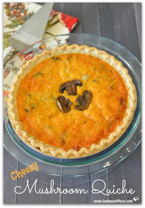 Cheesy Mushroom Quiche Pic 1