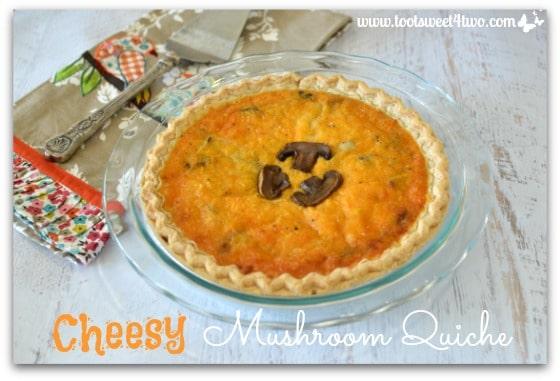 Cheesy Mushroom Quiche Pic 4