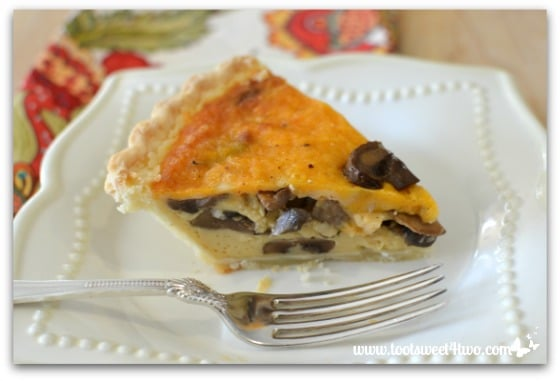 Cheesy Mushroom Quiche Pic 7