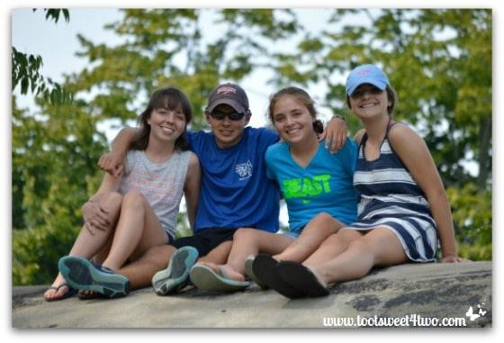 Erin, Ryan Bizzy, Molly at Chautauqua Institution