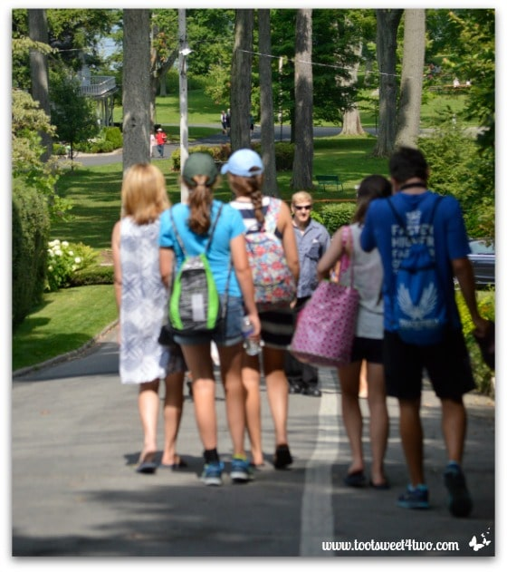 Heading down to the shore at Chautauqua Institution