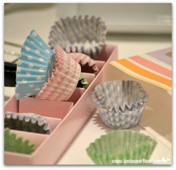 Mini cupcake wrappers - Bizzy's Mini Chocolate Cupcakes