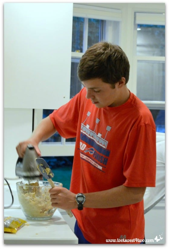 Ryan making cookies - Erin's Iced Sugar Cookie Cutouts
