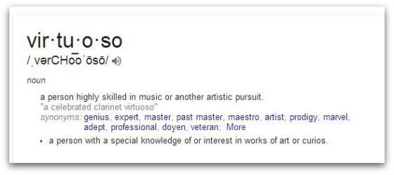 Virtuoso defined - The Virtuoso