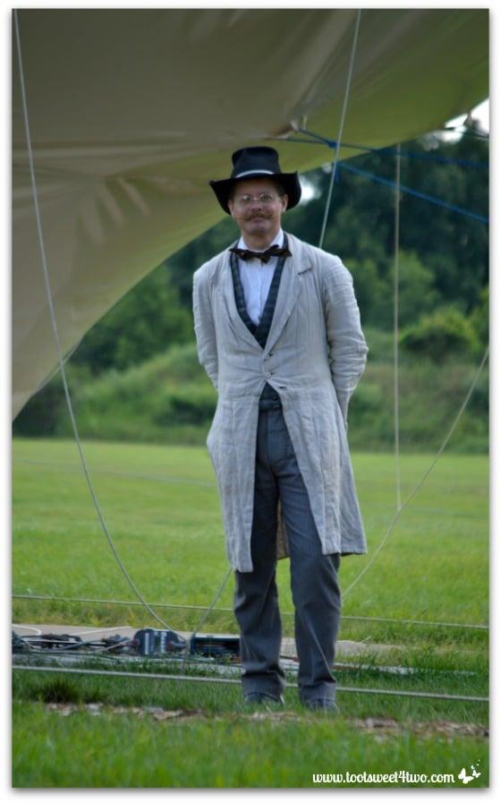 Volunteer Docent dressed in Civil War Era costume at Genesee Country Village