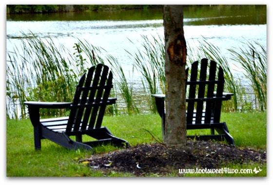 Adirondack chairs at Hogwarts on the Lake