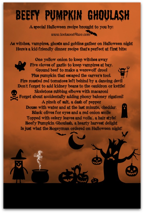 Beefy Pumpkin Ghoulash poem
