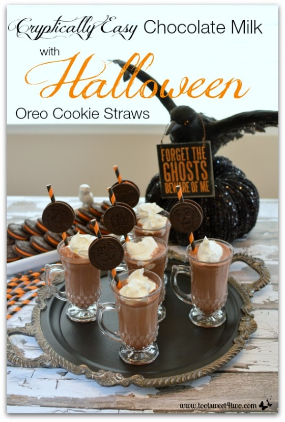 Cryptically Easy Chocolate Milk with Halloween Oreo Cookie Straws Pic 2
