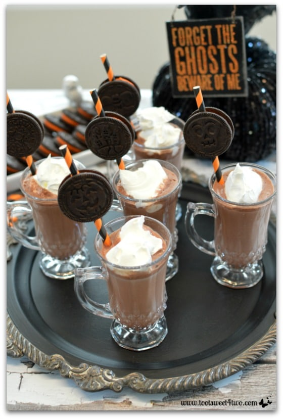 Cryptically Easy Chocolate Milk with Halloween Oreo Cookie Straws Pic 3