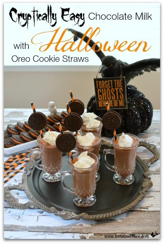 Cryptically Easy Chocolate Milk with Halloween Oreo Cookie Straws cover