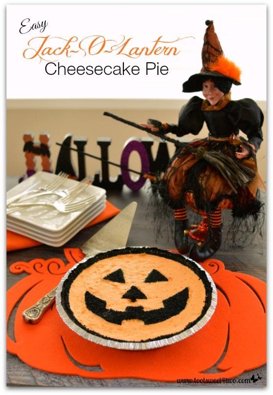 Easy Jack-O-Lantern Cheesecake Pie - Pic 1