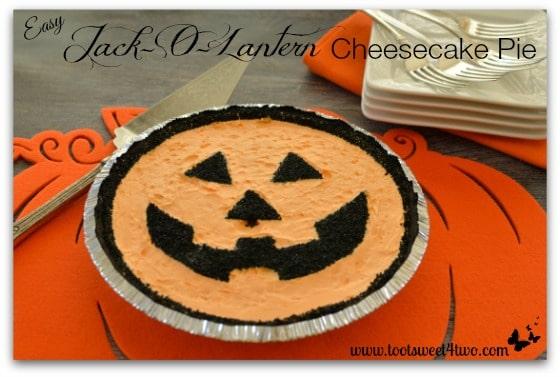 Easy Jack-O-Lantern Cheesecake Pie - Pic 2