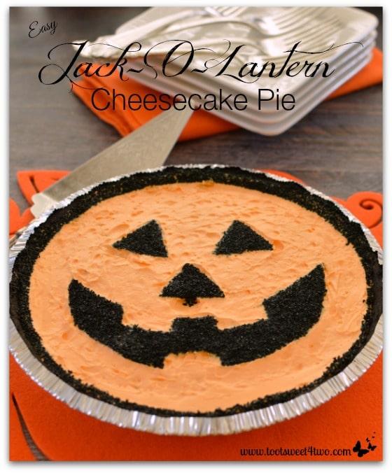 Easy Jack-O-Lantern Cheesecake Pie - Pic 3