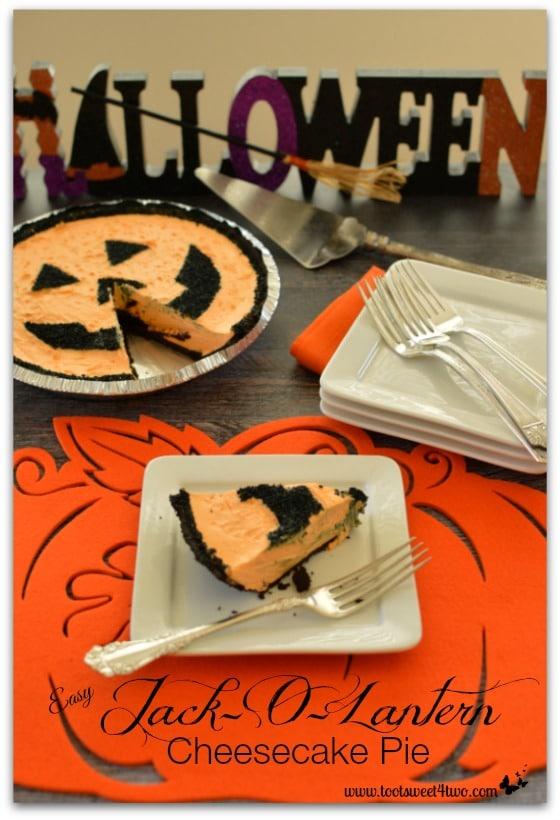Easy Jack-O-Lantern Cheesecake Pie - Pic 4