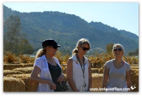 Gail, Samantha, Ali at the straw maze