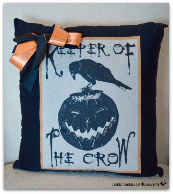 Keeper of the Crow pillow