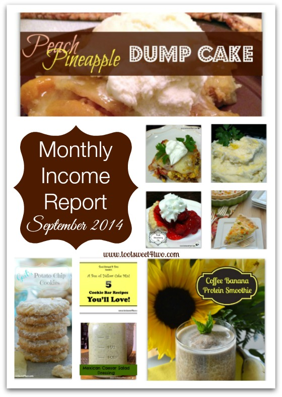 Monthly Income Report - September 2014 cover