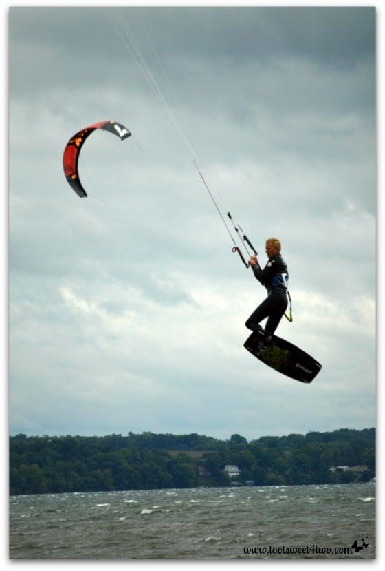 Parasurfer at Hogwarts on the Lake