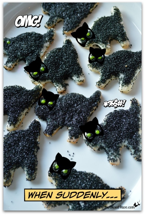 Pic 3 Scaredy Cat Pie Crust Cookies in masks