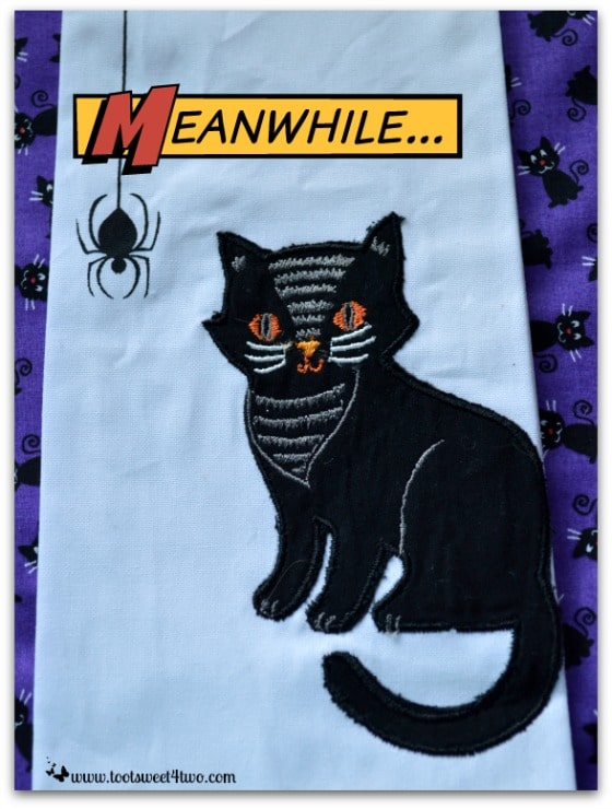 Pic 4 Black Cat tea towel