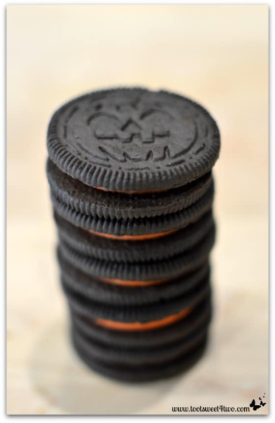 Stack of Halloween Oreos