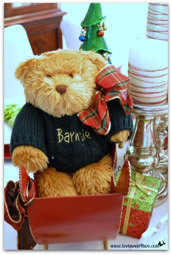 Christmas Teddy Bear in sleigh