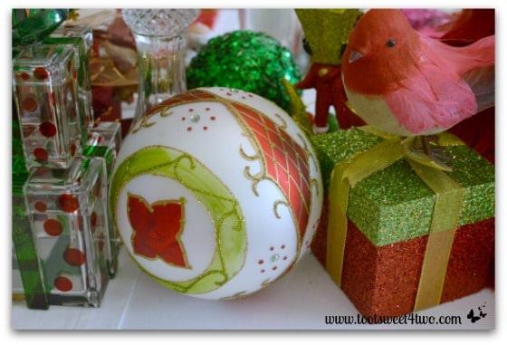 Fancy Christmas ornament on Christmas table