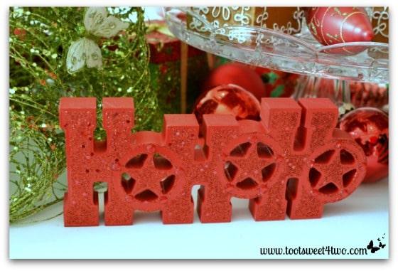 HoHoHo sign on Christmas