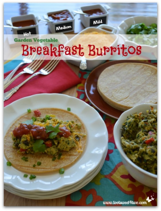 Pic 20 Garden Vegetable Breakfast Burritos