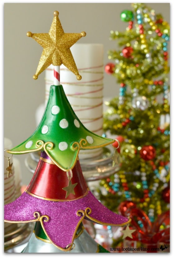 Quirky Christmas trees on Christmas table