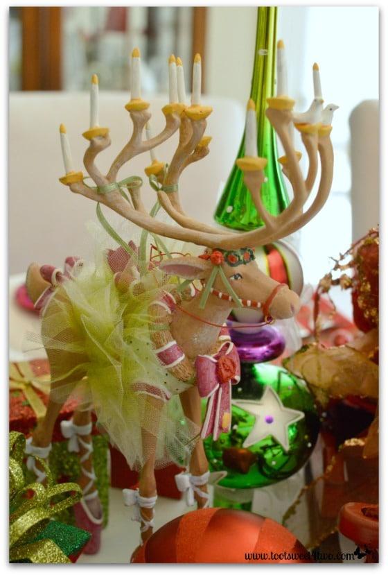 Reindeer Dancer on the Christmas table