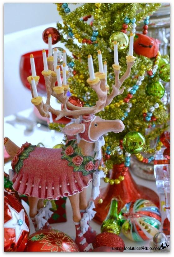 Reindeer Donna on Christmas table