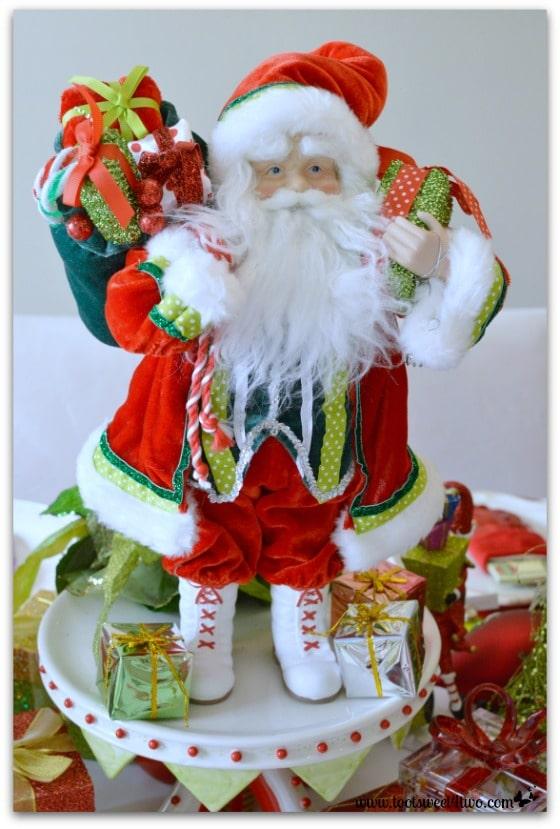 Santa on Christmas table