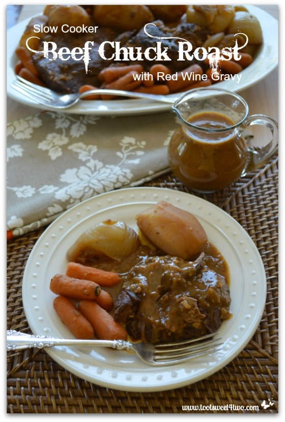 Slow Cooker Beef Chuck Roast with Red Wine Gravy cover