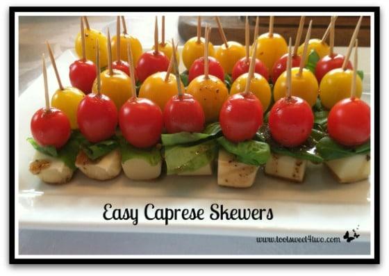 Appetizer - Easy Caprese Skewers