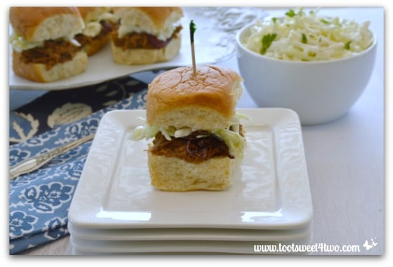 BBQ Beef Sliders with Creamy Crunchy Coleslaw Pic 2