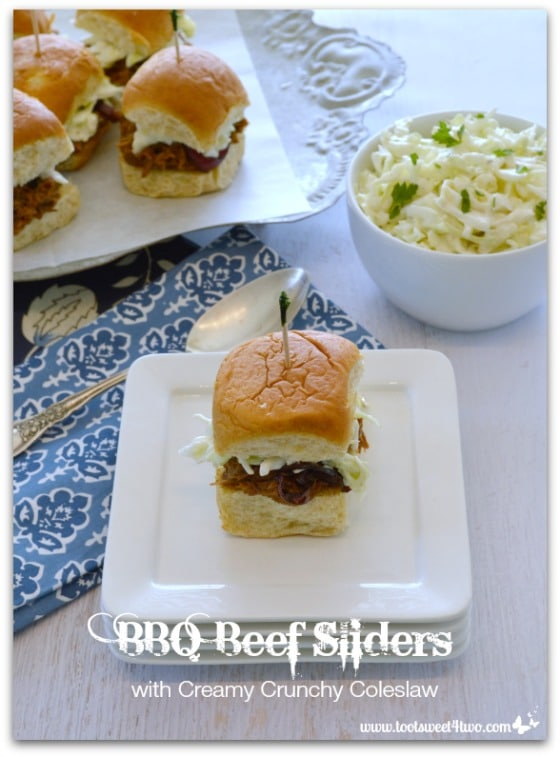BBQ Beef Sliders with Creamy Crunchy Coleslaw Pic 3